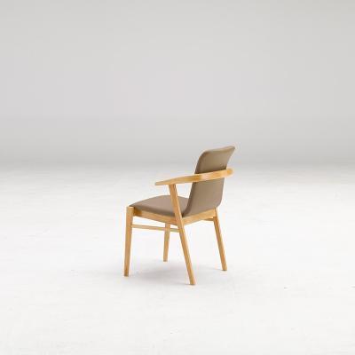 휴치 고무나무 원목 식탁 의자 A타입