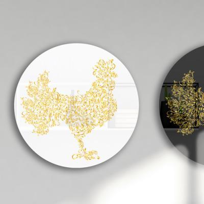 bf461-대형원형아크릴액자_황금꽃닭