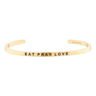 [만트라뱅글] EAT PRAY LOVE - 골드