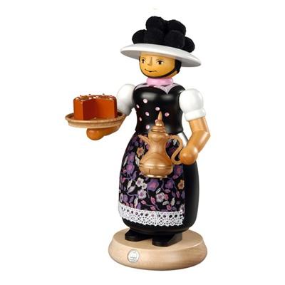스모킹맨- ,케잌과 뜨거운 커피를 준비한 여인, 25cm 16642