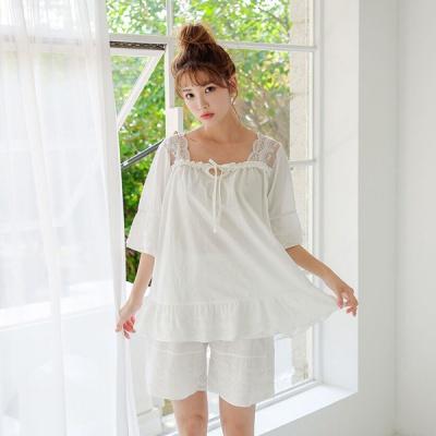 [쿠비카]러블리 바스트 레이스 투피스 여성잠옷 W578