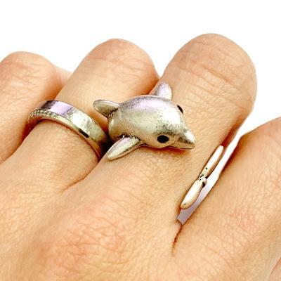 [실버문] 나의 돌고래 반지 길이조절가능