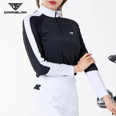 다운블로우-DB1001W여자골프긴팔반집업티셔츠