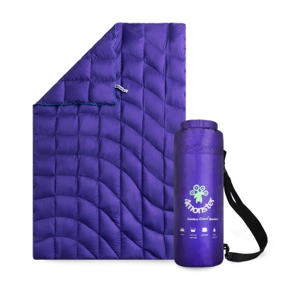 Duck Down Blanket Purple