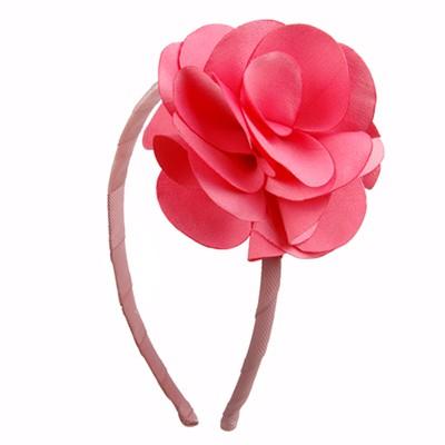 [헤어보우]Lovely Flower 헤어밴드-Coral