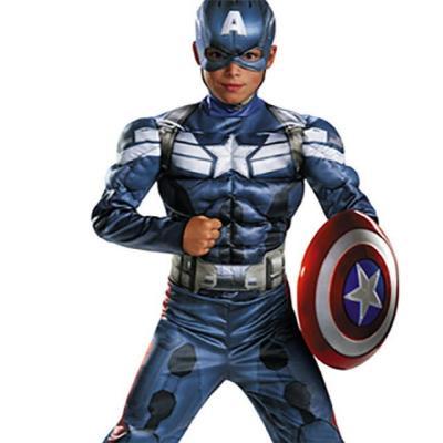 캡틴아메리카 머슬 코스튬 (7-9세)