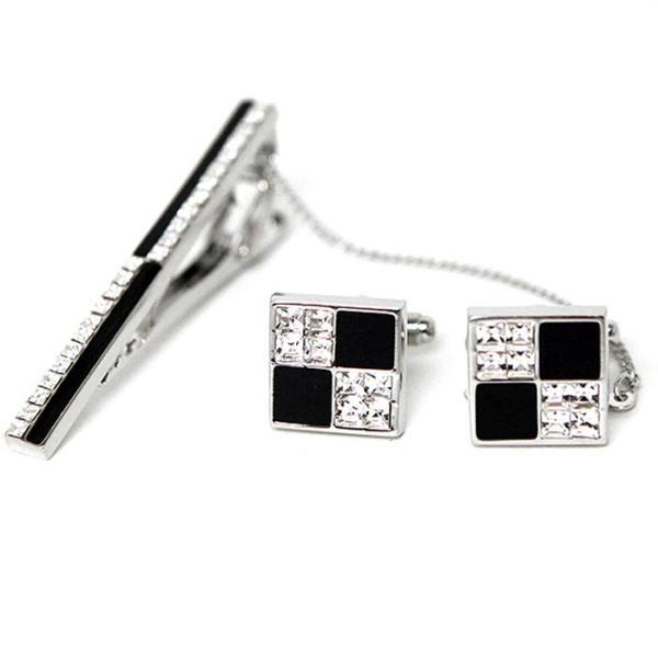 GENTLE ANT 블랙 822 넥타이핀+커프스버튼 CH1427043