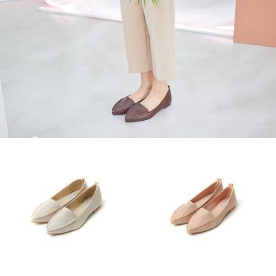 [애슬릿]베이직 심플 뾰족코 여성단화 로퍼 1cm