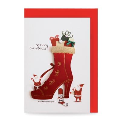 크리스마스카드/성탄절/트리/산타 빨간 구두 (FS1021-6)