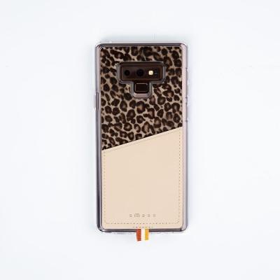 스매스 갤럭시노트9 송치가죽 포켓 바 카드 케이스 레오파드