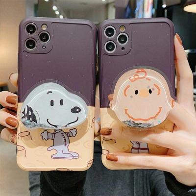 아이폰 카메라보호 소년 강아지 글리터 그립톡 케이스