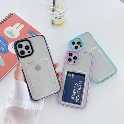 아이폰 12 11 x xr se2 7 8 투명 카드수납 젤리케이스