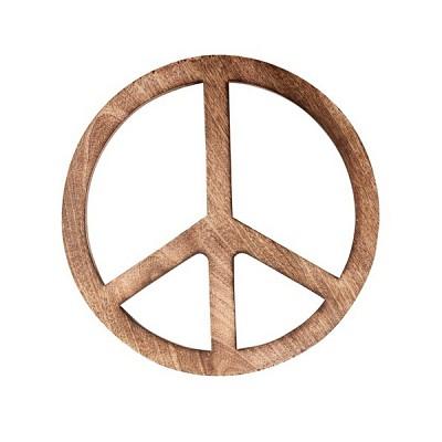 [Hubsch]Peace-sign, mango wood, large 806099 우드장식