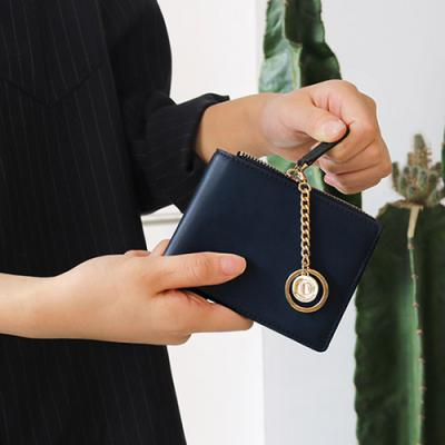 D.LAB Coin Half wallet  - Navy