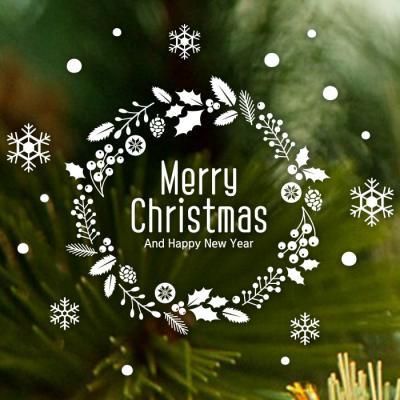 제제데코 크리스마스 눈꽃 스티커 장식 CMS4J194