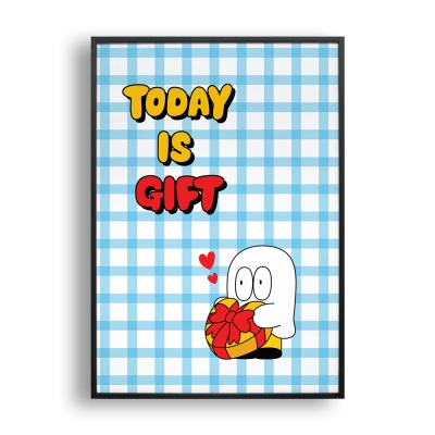today is gift 2 / 일러스트 액자