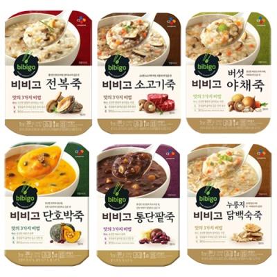 [CJ제일제당] 비비고 죽 6종