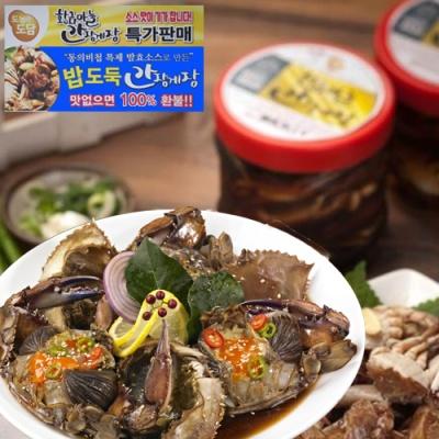 [동의비첩 특제소스] 황금마늘 간장 돌게장 1kgx2통