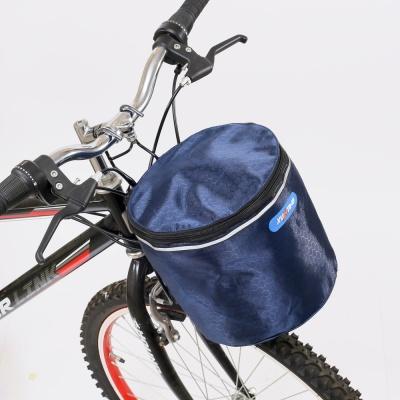 원통 핸들걸이식 자전거 바구니 자전거짐받이바구니