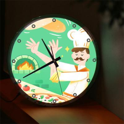 nf722-LED시계액자35R_맛있는거해줄게(피자)