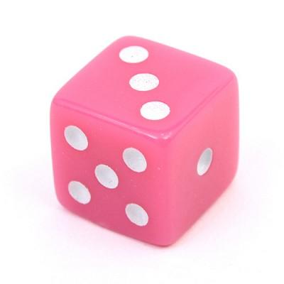 다면체 주사위(정6면체)핑크