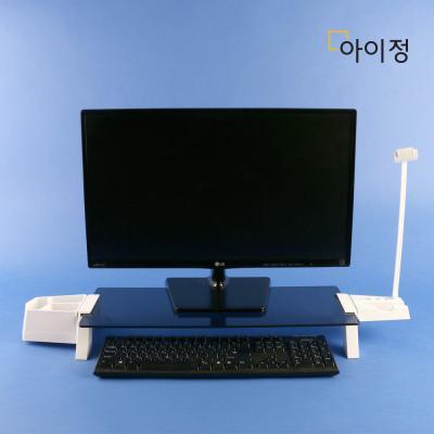 아이정 스마트독브릿지 모니터받침대 S331 블랙유리/화이트