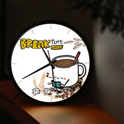 nf176-LED시계액자35R_쉬는시간커피한잔