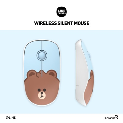 라인프렌즈 무선 무소음 마우스