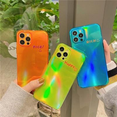 아이폰12 미니 pro max 스마일 형광 컬러 젤리 케이스