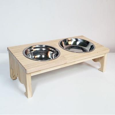 원목 애견식탁(왕관) 2구 강아지 식탁 원목식탁