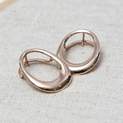 14K 타원 링 원터치 귀걸이