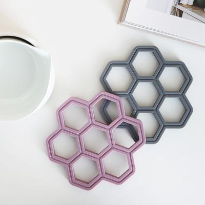 국내제작 허니콤 실리콘 냄비받침(5color)