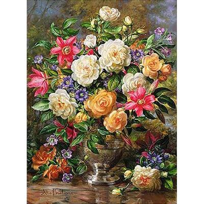 봄꽃 향기 2 (패브릭) 보석십자수 40x55