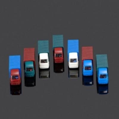 모형 자동차 트럭-3종