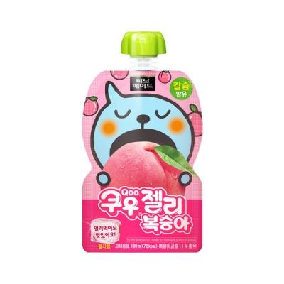 [공식] 쿠우 젤리 복숭아 포도 130ml