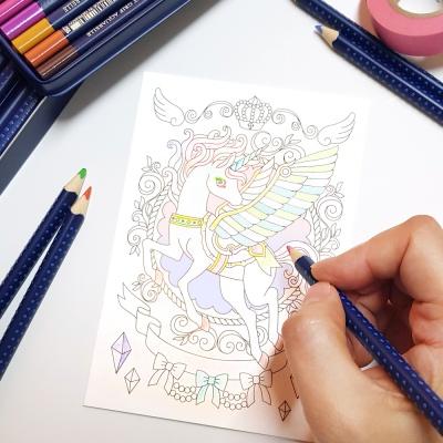 컬러링 엽서 - 유니콘