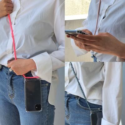 갤럭시M10 연예인 핸드폰줄 넥스트랩 투명 폰케이스