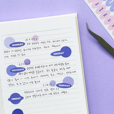 기본 스티커 1000 -날짜/요일/월