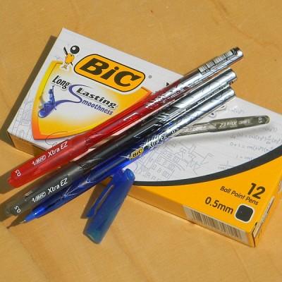 [BIC] EZ잉크로 부드러운 0.5mm 유성볼펜-프랑스 빅 Xtra EZ Stick 1타스 HA124-1s