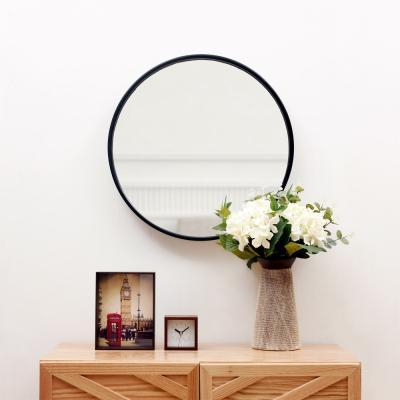 우드로하우스 북유럽풍 원목원형거울 35cm원형거울