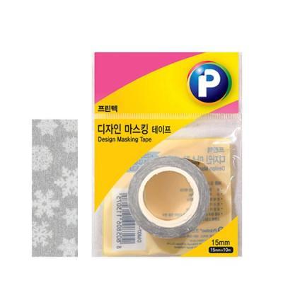 [프린텍] DM10-1510_디자인마스킹 테이프/눈꽃/15mmx10m