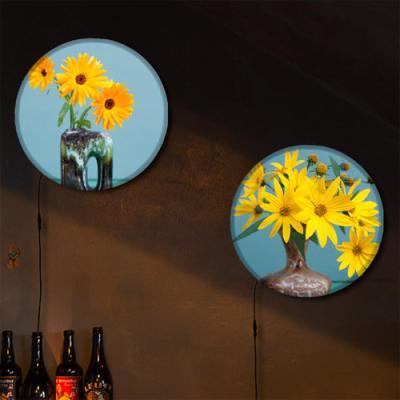nh724-LED액자25R_꽃병속의노랑꽃