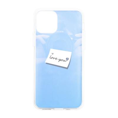 나인어클락 하프미러 한쌍 커플 케이스 - 레터 블루