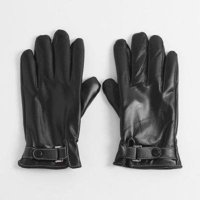바르셀 남성 터치 가죽장갑(블랙)/겨울 방한장갑