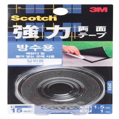3M 스카치™ 강력 방수 폼 양면테이프 KWP-15