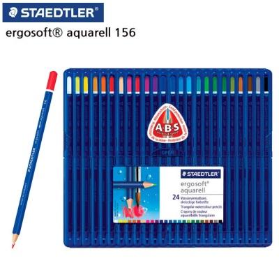 스테들러 156 고급 삼각 수채 색연필 24색 세트