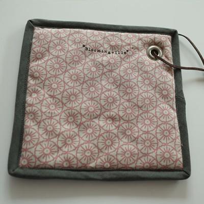 사각팟홀더 냄비받침 핑크문양