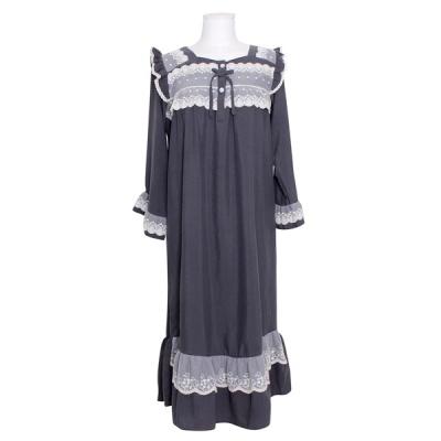 [쿠비카]비침 자수레이스 원피스 여성잠옷 W802