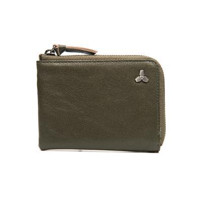 [코앤크릿] 17WTA0202G01DO 트리포드 엣지 지퍼 카드지갑 다크올리브