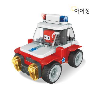 파이블럭 8종변신 경찰차 장난감 세트